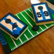 Panther's Cornhole Cake