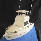 Fishing Boat Groom's Cake