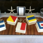 Nautical Flags Cakes