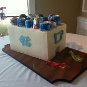 UNC Cooler Cake
