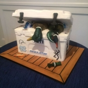 Yeti Cooler Groom's Cake