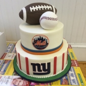 NY Sports Teams Cake