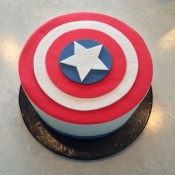 Captain American Shield Cake