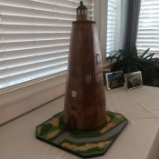 Bald Head Island Lighthouse Cake