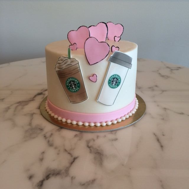 Starbucks Anniversary Cake One Belle Bakery
