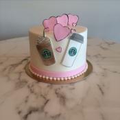 Starbucks Anniversary Cake