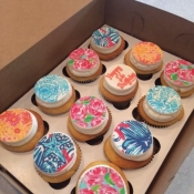 Lilly Pulitzer Cupcakes