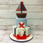 Sailboat Baby Themed Cake