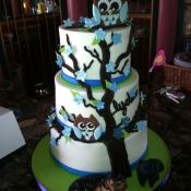 Owl in Tree themed Cake