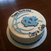 UNC themed cake