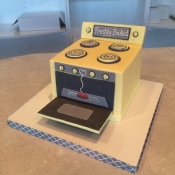 Oven themed Cake