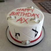 Adult Themed Birthday Cake