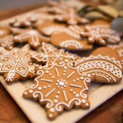 Custom Decorated Cookies Snowflakes