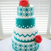 Modern Chevron Wedding Cake