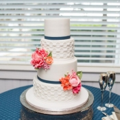 Custom Pattern Wedding Cake