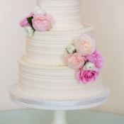 Combed Buttercream Wedding Cake