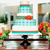 Quatrefoil Wedding Cake