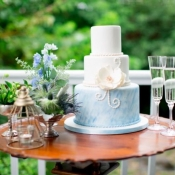 Blue Watercolor Cake
