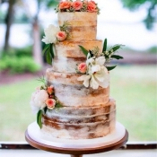 Naked Cake w/ Fresh Flowers