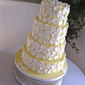 Yellow Petal Wedding Cake