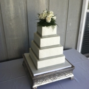 Square Quilted Wedding Cake