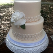 Honeycomb Wedding Cake