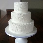 White Lace Wedding Cake