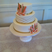 Art Deco Gold Wedding Cake