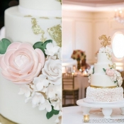 Sugar Flowers and Gold Foil