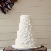White Petal Wedding Cake