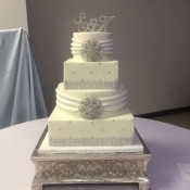 Silver Broach Wedding Cake