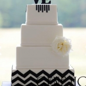Black Chevron Wedding Cake