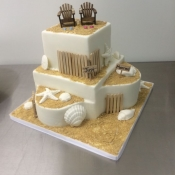 Seashell Beach Wedding Cake