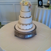 Gold Piping Wedding Cake