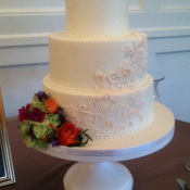 Handmade Lace Wedding Cake